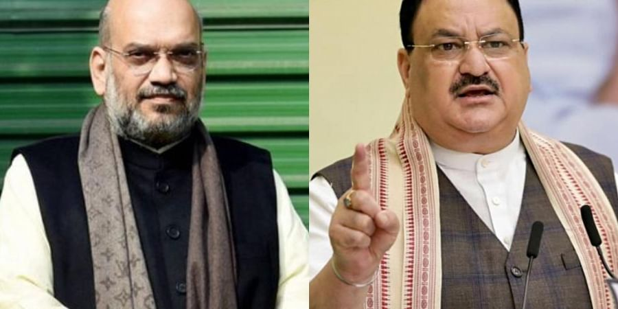 Union Home Minister Amit Shah (L) and BJP Chief JP Nadda (R)