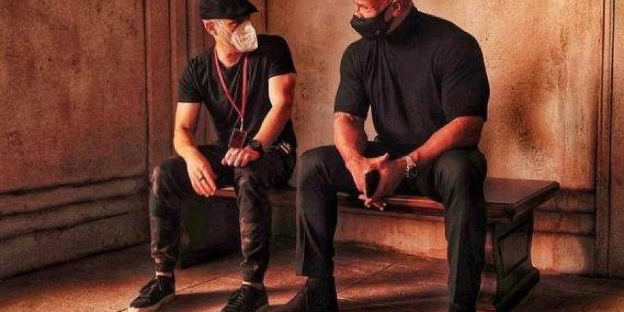 Dwayne Johnson wraps 'Red Notice' shoot