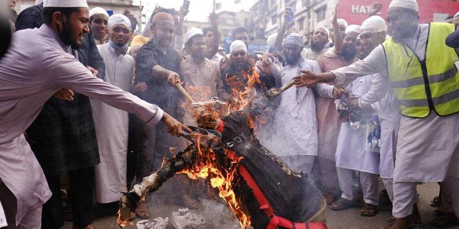 Bangladesh France protests