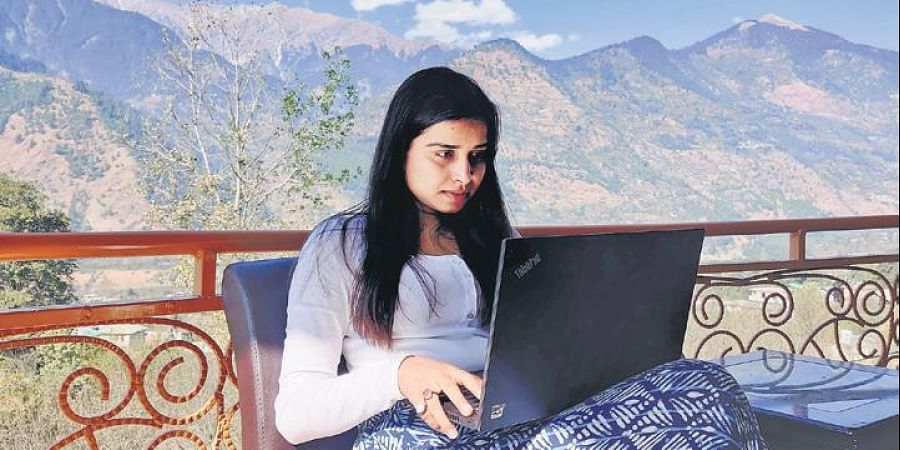 Surybala Shahi, a travel blogger who works with an MNC in Gurugram, is temporarily soaking up the Himachali culture till her office reopens.