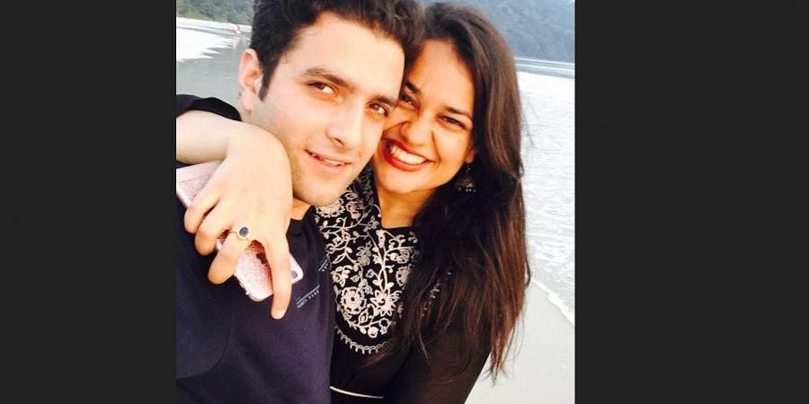 Tina Dabi with estranged husband Athar Aamir Khan (Photo | Athar Aamir Khan, Instagram)