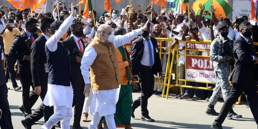Man Who Threw Placcard On Amit Shah Arrested In Chennai