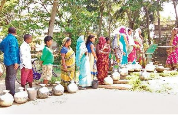 No end to Odisha villagers' woes as drinking water project remains still - The New Indian Express
