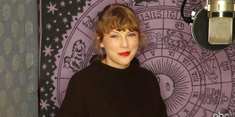 In this screen shot provided by ABC on Sunday, Nov. 22, 2020, Taylor Swift accepts the award for artist of the year at the American Music Awards.