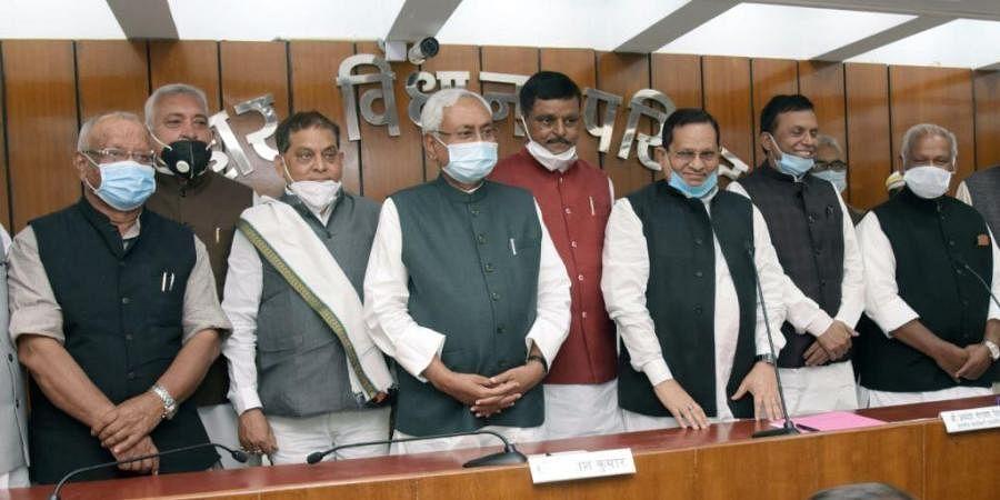 Devesh Chandra Thakur and Neeraj Kumar of the JD(U), BJP's Nawal Kishore Yadav and NK Yadav, CPI's Sanjay Kumar Singh and Kedar Nath Pandey and state Congress president Madan Mohan Jha
