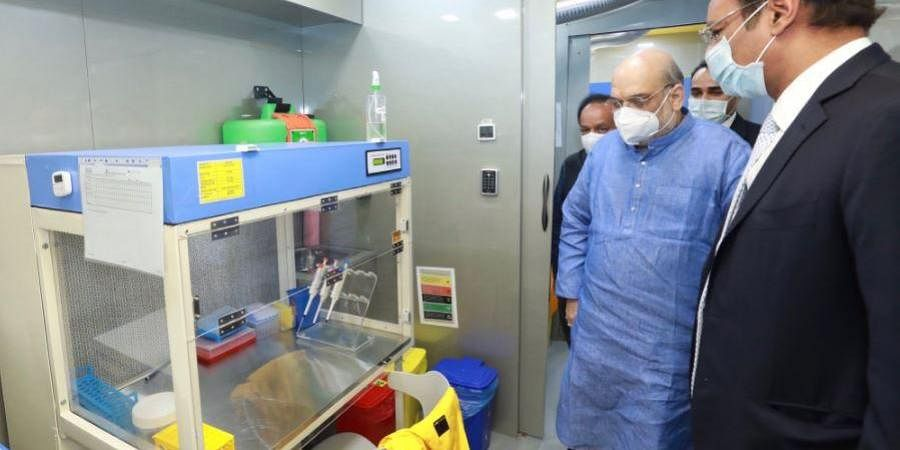 Union Home Minister Amit Shah on Monday launched a mobile laboratory that will conduct free RT-PCR tests for COVID-19