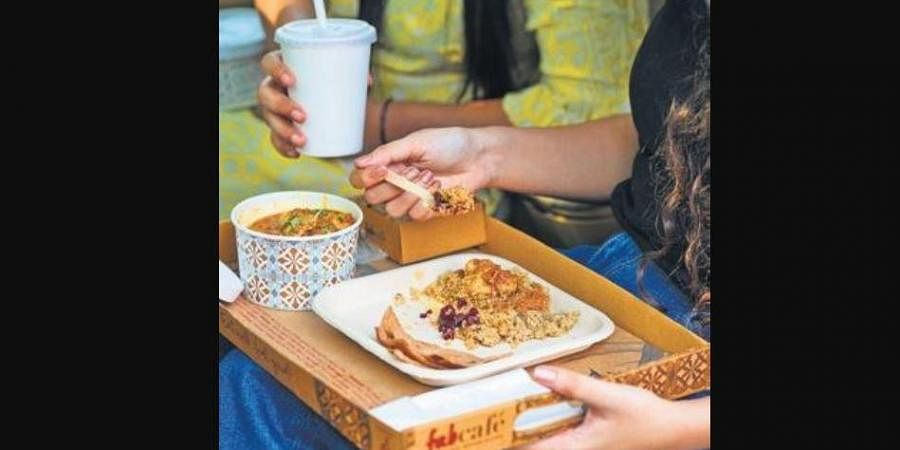 Eco meal trays from Fab Café