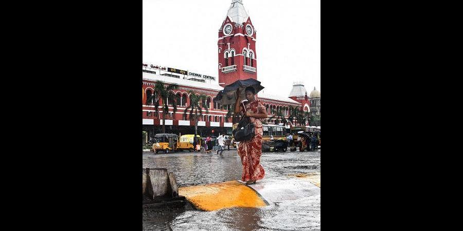 Chennai Central, Rain