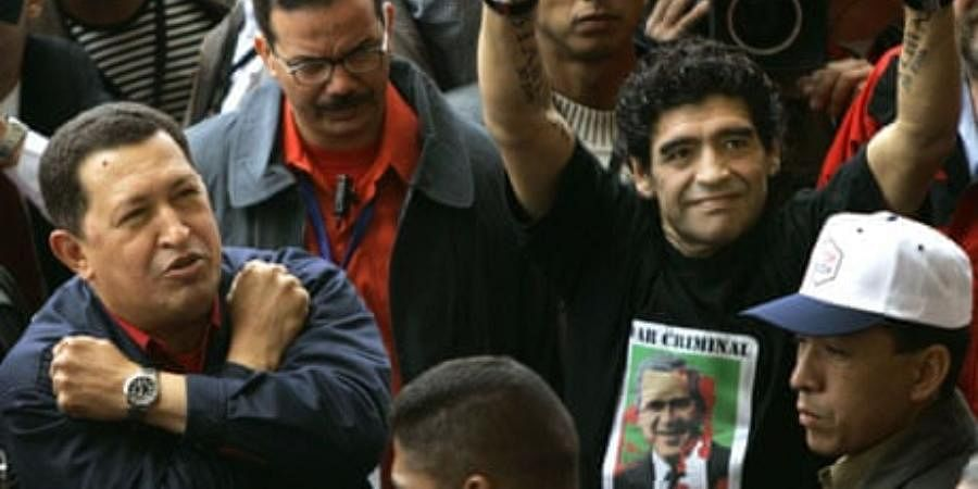 """'We are Chavistas until death, Long live the revolution,"""" El Diego was  once quoted as saying."""
