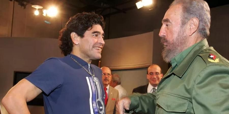 Che's comrade Fidel too, was Maradona's ally. Though they have met earlier, the two started sharing a bond in the early 2000s when the latter reached out to Cuba seeking help for his addiction issues. (Photo |AP)