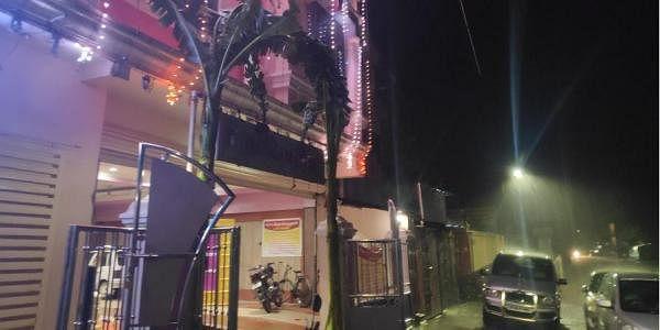 A deserted wedding hall at Sirkazhi on Wednesday night. (Photo | Express)