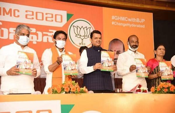 GHMC polls: BJP releases manifesto, pledges 28,000 jobs, free transport for women