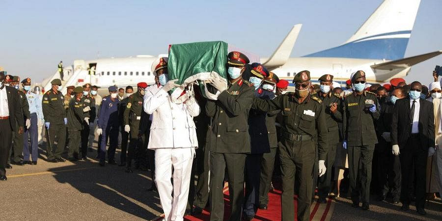 Body of former Sudan's prime minster Sadiq al-Mahdi arrives to Khartoum