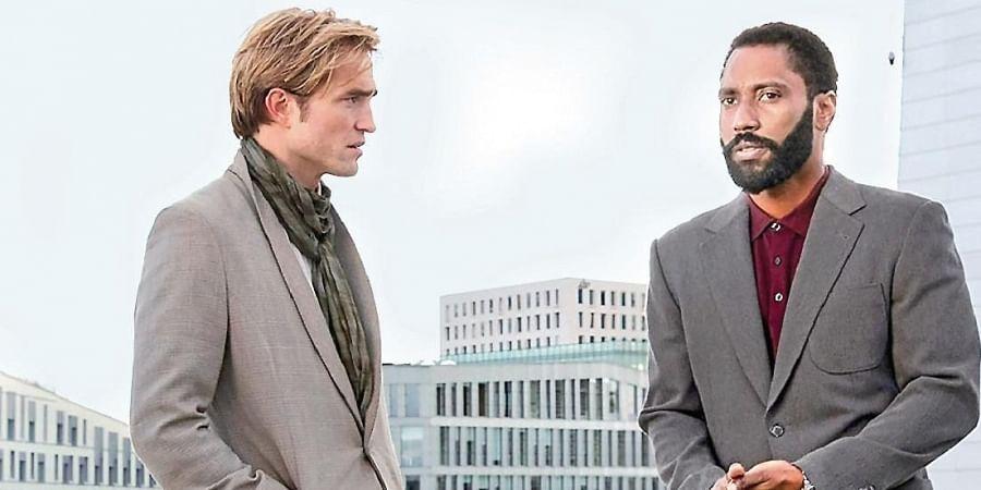 Robert Pattinson and John David Washington in 'Tenet'.