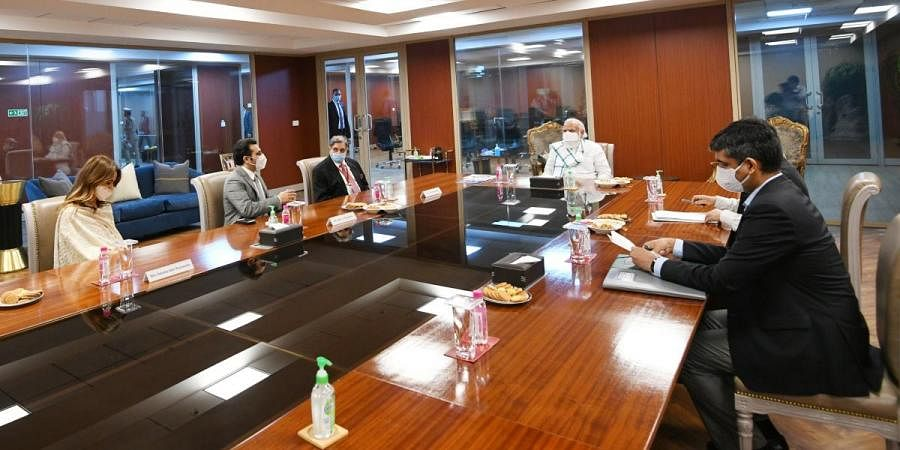 PM Narendra Modi interacts with COVID vaccine developers at Serum Institute of India in Pune
