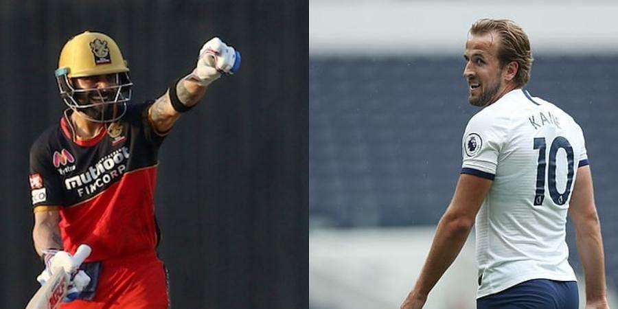 Indian cricket captain Virat Kohli (L) and English footballer Harry Kane (File Photos)
