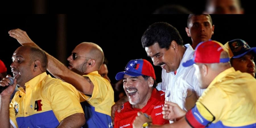 """In 2017, 'When Maduro orders, I am dressed as a soldier for a free Venezuela, to fight against the imperialism and those who want to take our flags, which is the most sacred thing we have,"""" Maradona wrote in 2017."""
