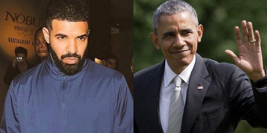 (L) Drake and (R) former US President Barack Obama (Photos   Instagram, AP)