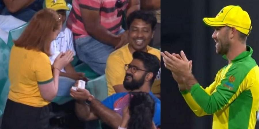 Australia all-rounder Glenn Maxwell congratulated the couple by applauding them from the field.