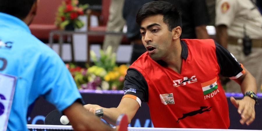 Reigning national table tennis champion Harmeet Desai