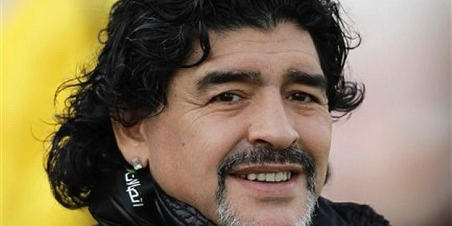 Argentine football legend Diego Maradona (File AP)