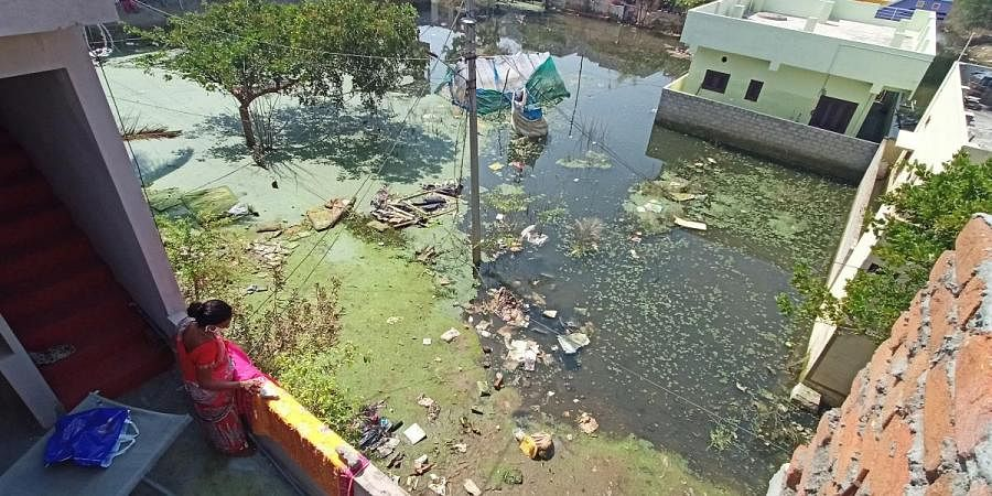 Houses in Badangpet near Hyderabad are still reeling under floodwater and foul smell