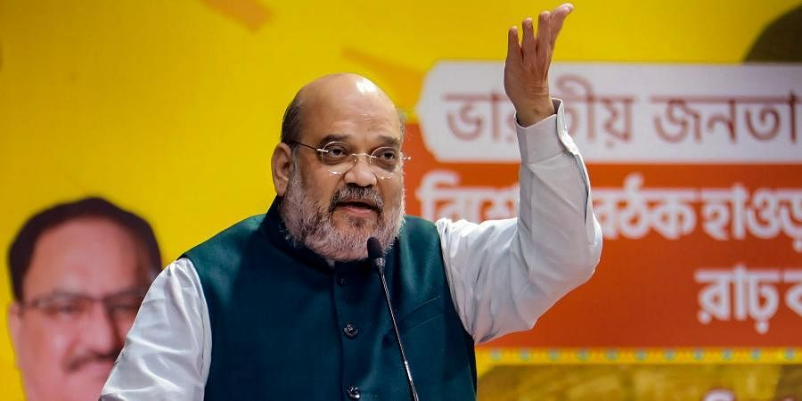 Union Home Minister Amit Shah addresses BJP Bengal unit workers in Bankura.