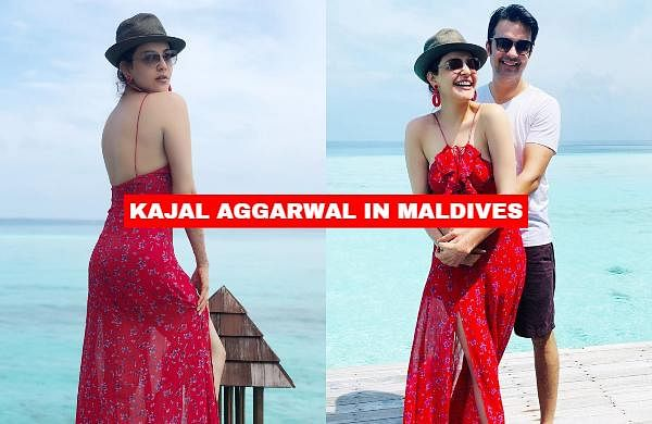 After making headlines with her wedding in October, actress Kajal Aggarwal is now holidaying with her husband, Gautam Kitchlu, in Maldives.