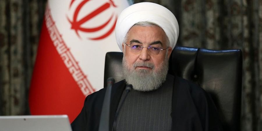Iranian President Hassan Rouhani attends a cabinet meeting in Tehran