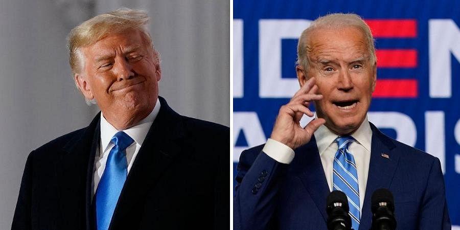 US President Donald Trump and Democrat Joe Biden. (Photo | AP)