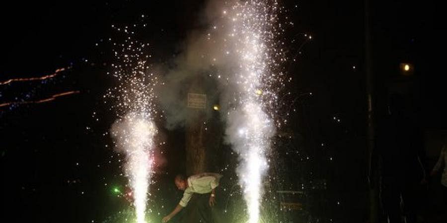 Firecrackers on Diwali Night.