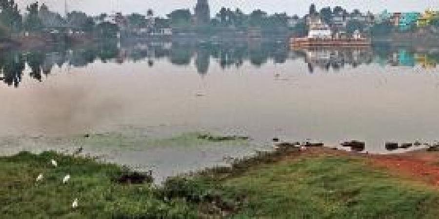 Bindu Sagar wears a deserted look on the occasion on Kartik Purnima in Bhubaneswar on Monday