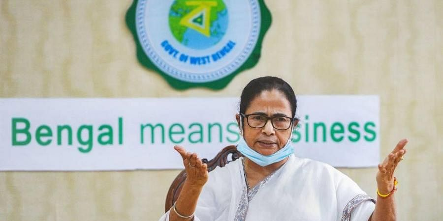 West Bengal Chief Minister Mamata Banerjee addresses a press conference at the state secretariat Nabanna in Kolkata Tuesday