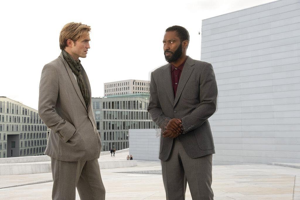 Robert Pattinson, left, and John David Washington in a scene from 'Tenet.' (Photo | AP)