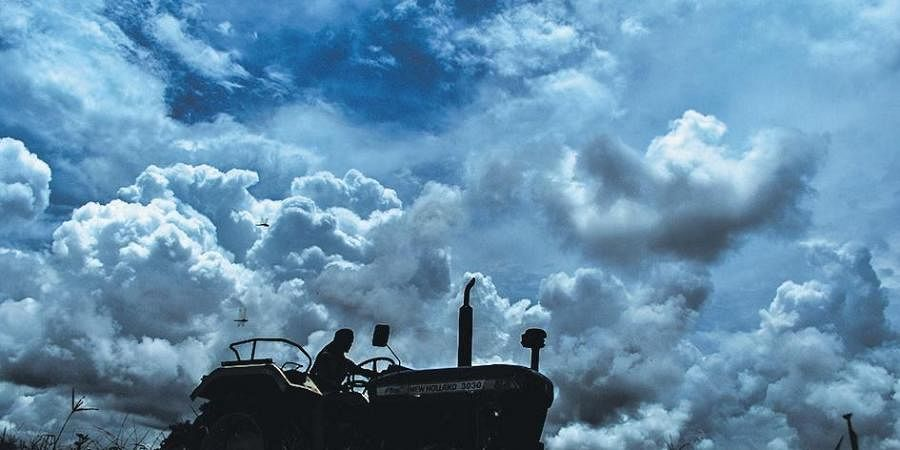 With the onset of monsoon, dark clouds hover over Bhubaneswar skyline on Thursday (Photo | Biswanath Swain, EPS