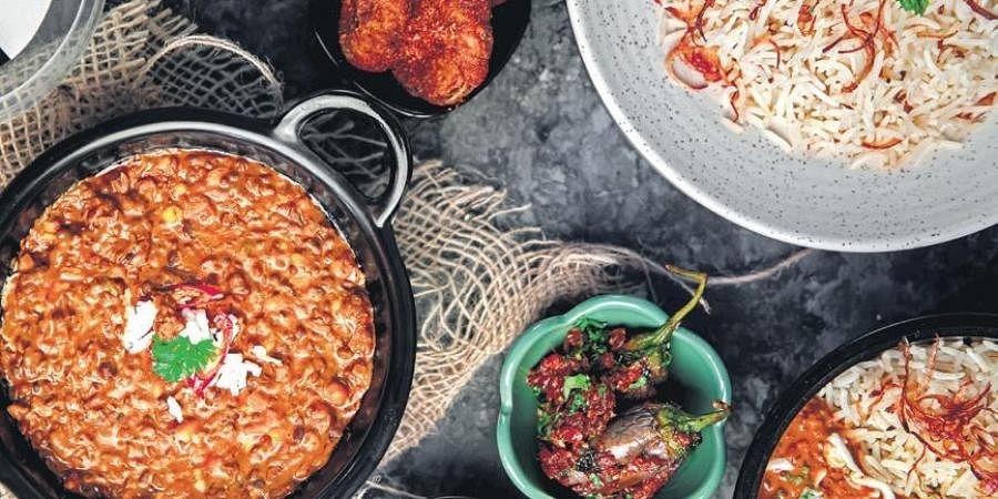 Highway Dal Makhni; Butter Chicken Spaghetti (right)