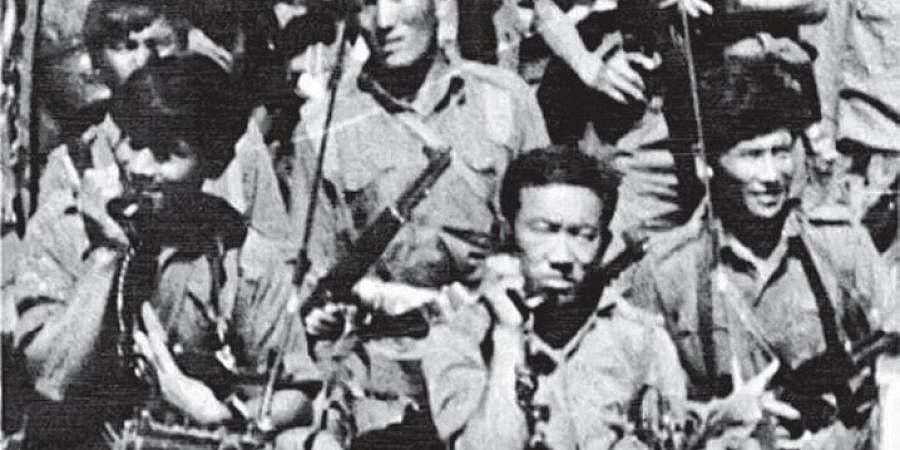 Members of the Special Frontier Force, including soldiers from Tibet, during the 1971 India-Pakistan War, in this dated photograph. (File Photo)