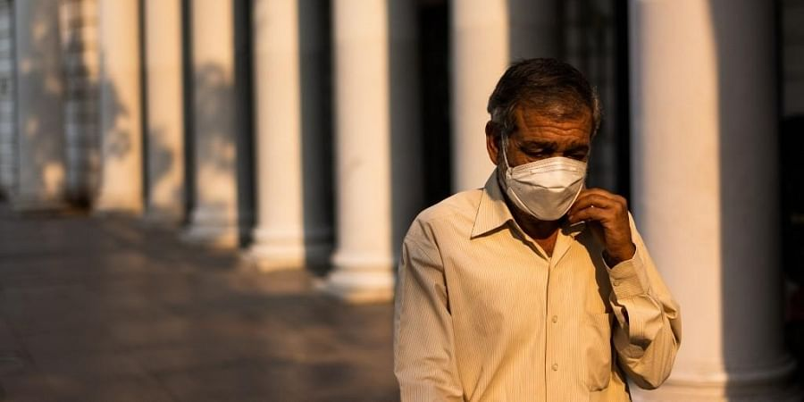 A man wearing a facemask as a preventive measure against the Covid-19 coronavirus. (Photo| AFP)