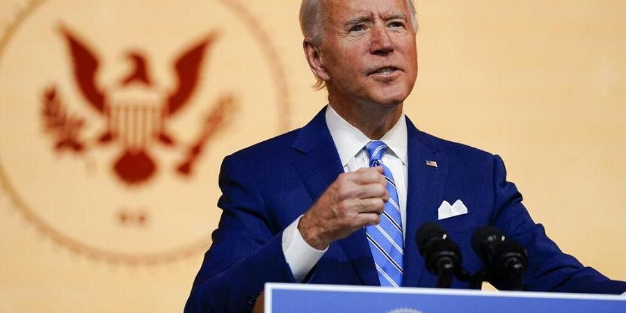 President-elect Joe Biden speaks at The Queen theater. (Photo | AP)