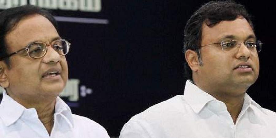 Former Union Minister P Chidambaram and his son Karti Chidambaram