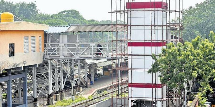 The approval for the elevator in Nugambakkam railway station was given in 2019 and construction commenced for the same