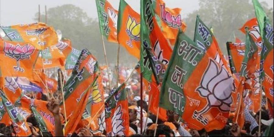 BJP flags (Photo| PTI)