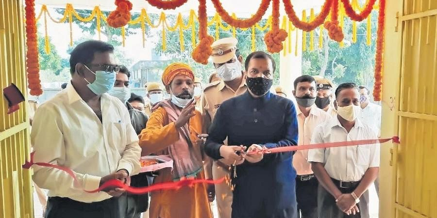 DG of Prisons Santosh Upadhyay inaugurating the psychiatric hospital inside Choudwar Circle Jail in Cuttack | Express