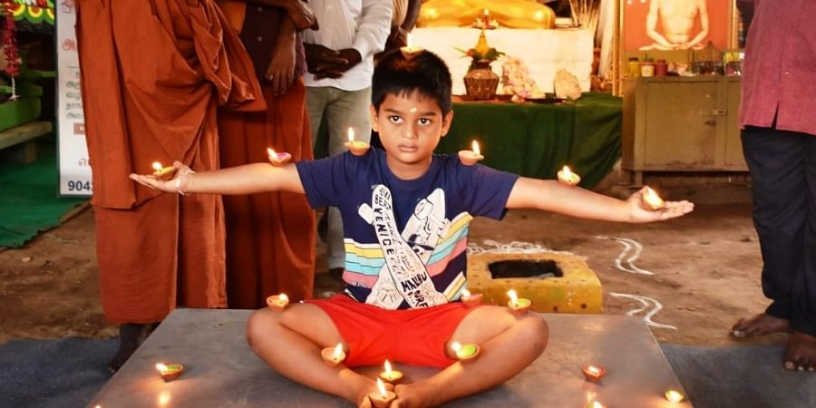 An avid practioner of yoga since when Devesh was four-years-old. (Photo   EPS)