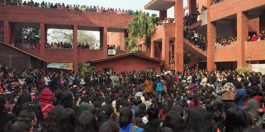Students of Gargi College held protests after the mass molestation during their college fest 'Riverie'.