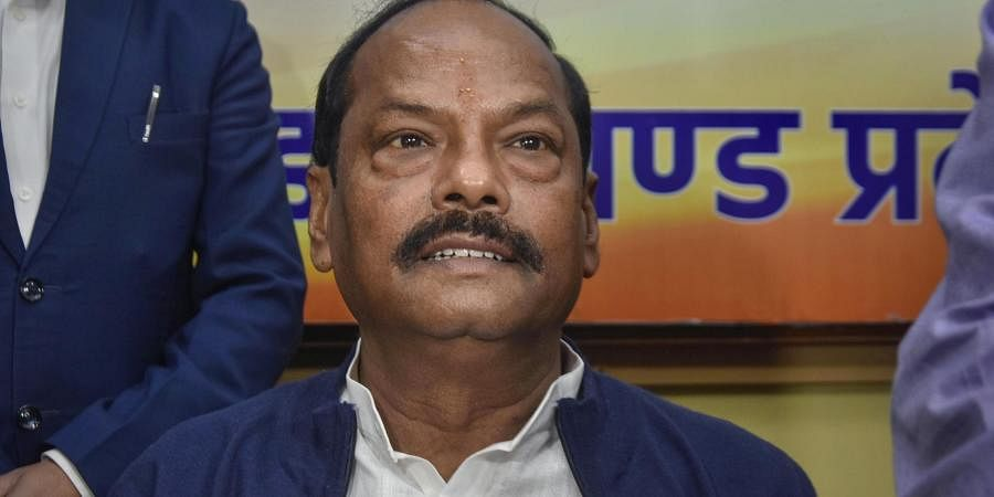 Jharkhand Chief Minister Raghubar Das at a press conference ahead of Jharkhand Assembly Election results in Ranchi