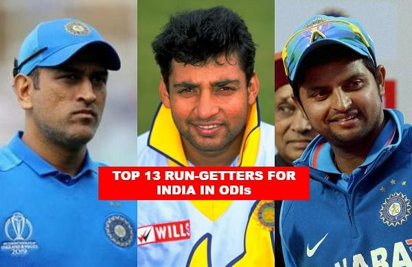 India has produced some of the greatest batsmen to have step foot on the cricket pitch, now let us take a look at the top 13 run-getters for the 'Men in Blue' in ODIs.