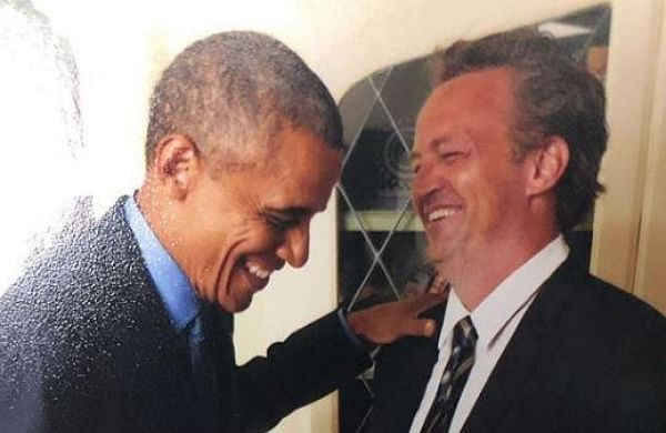 Matthew Perry is crushing over Barack Obama in new Instagram post