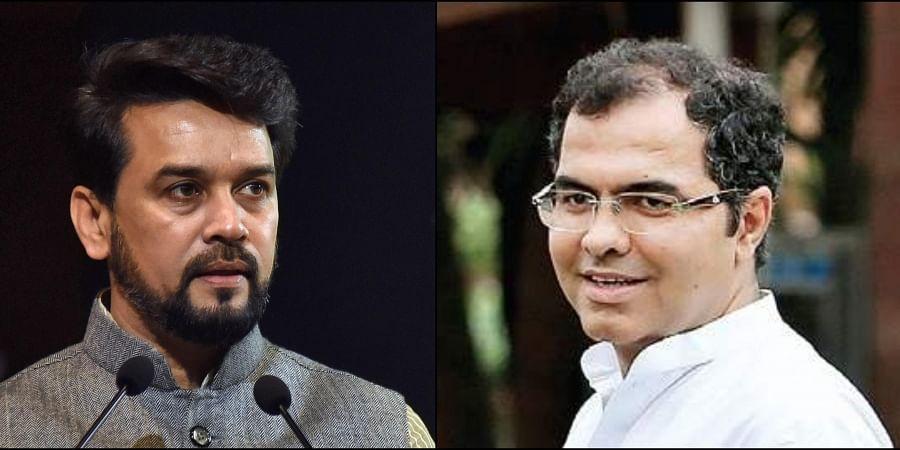 (Left) Union Minister Anurag Thakur (right) BJP MP Parvesh Verma