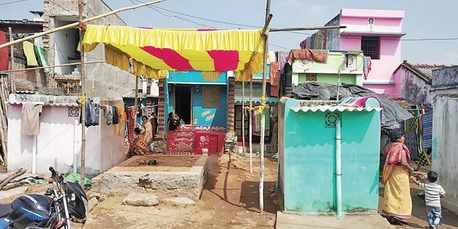The house of U Ashok Reddy, who was supposed to get married on Tuesday, at Dankalpadu village